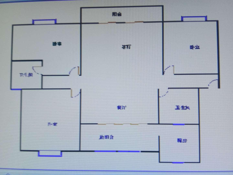 新城市花园小区 3室2厅 4楼