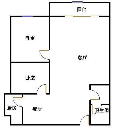 天钰铭城 2室2厅 7楼