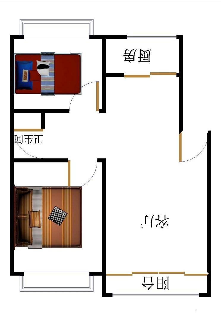 名苑小区 2室2厅 双证齐全 精装 85万