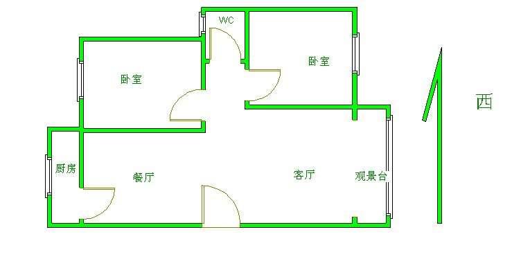 高地世纪城 2室1厅 3楼