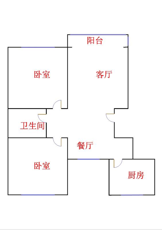 玫瑰公馆 2室2厅 12楼