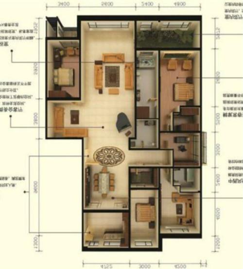 未来城 4室2厅  毛坯 360万