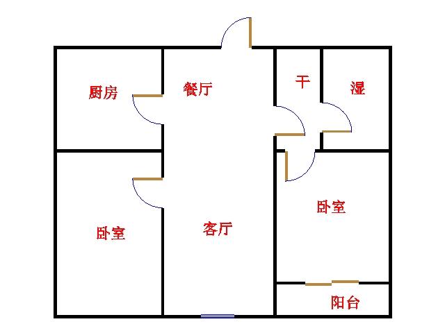 尚城国际 2室2厅 9楼