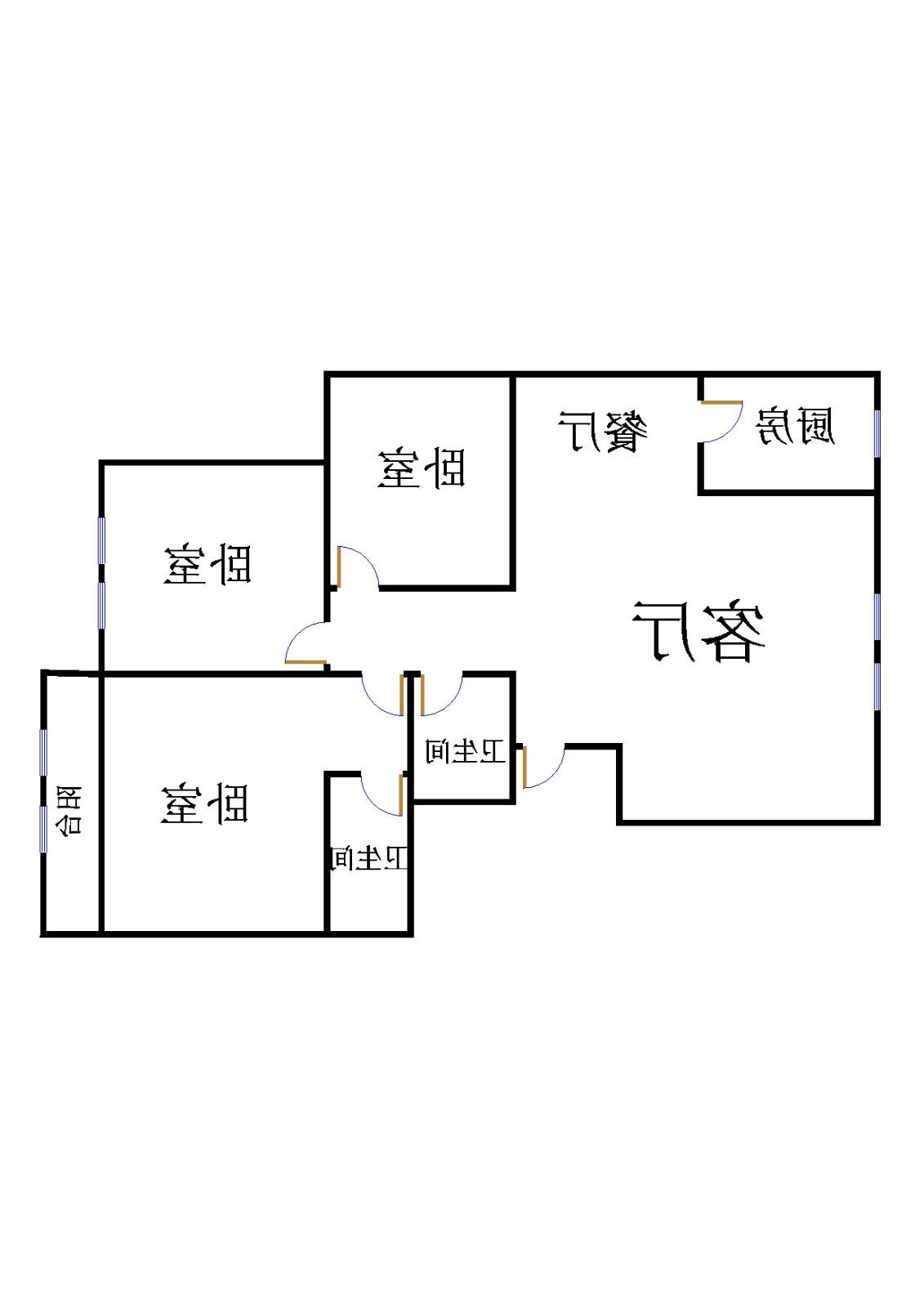 星河湾 2室2厅 7楼