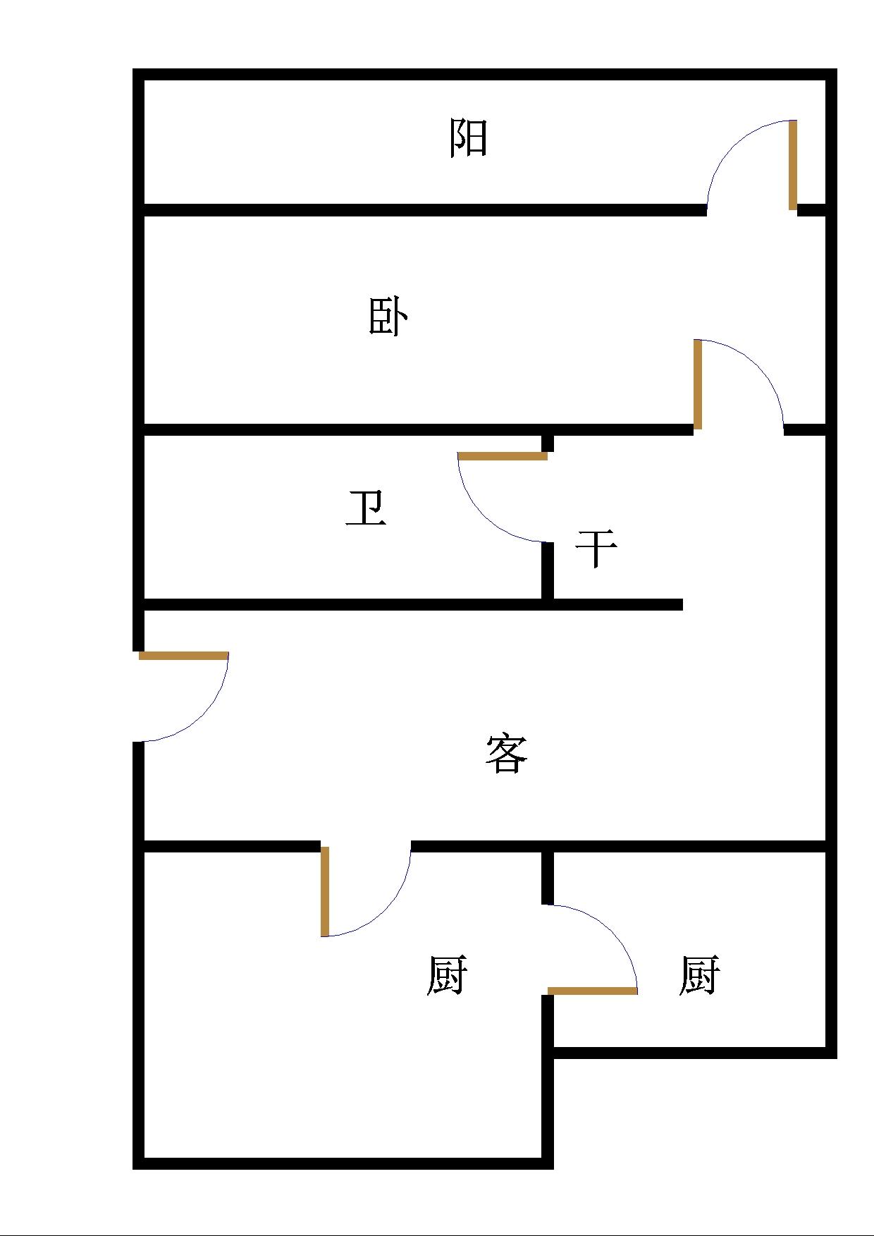 北园小区 1室1厅 2楼