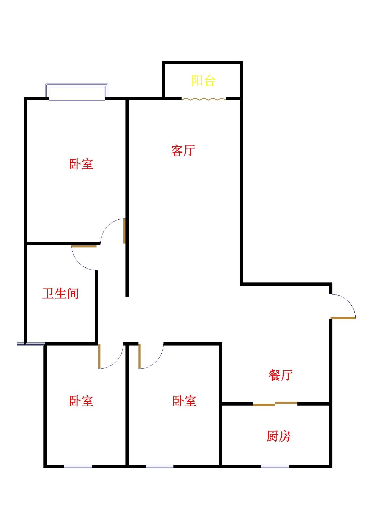 东方明珠小区 3室2厅 双证齐全 简装 268万