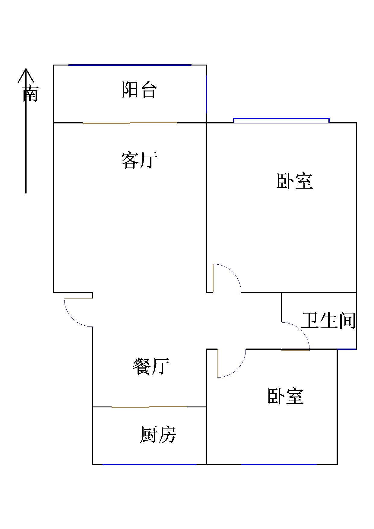 至尊名郡 2室2厅 5楼