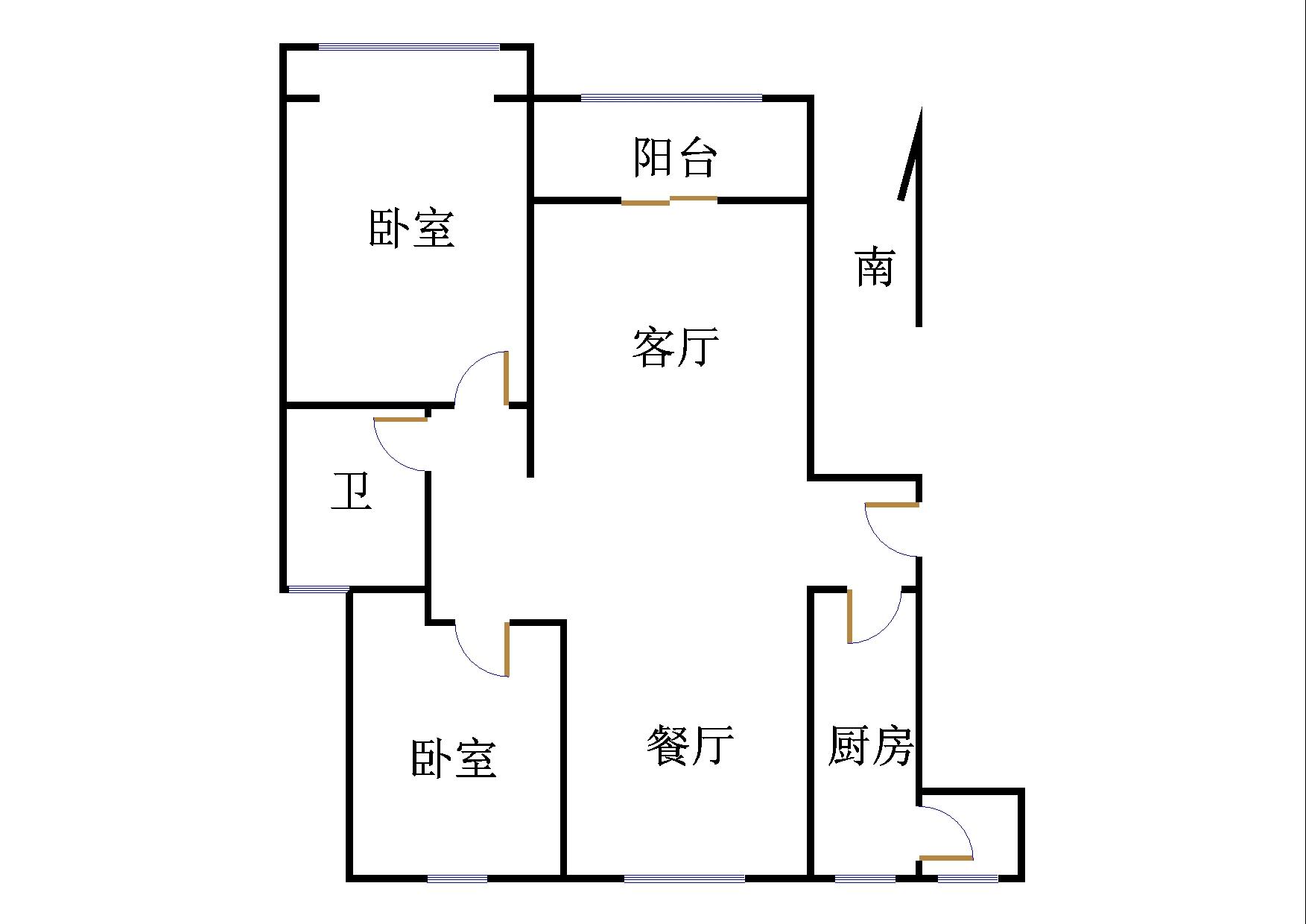 双馨苑 2室2厅 1楼