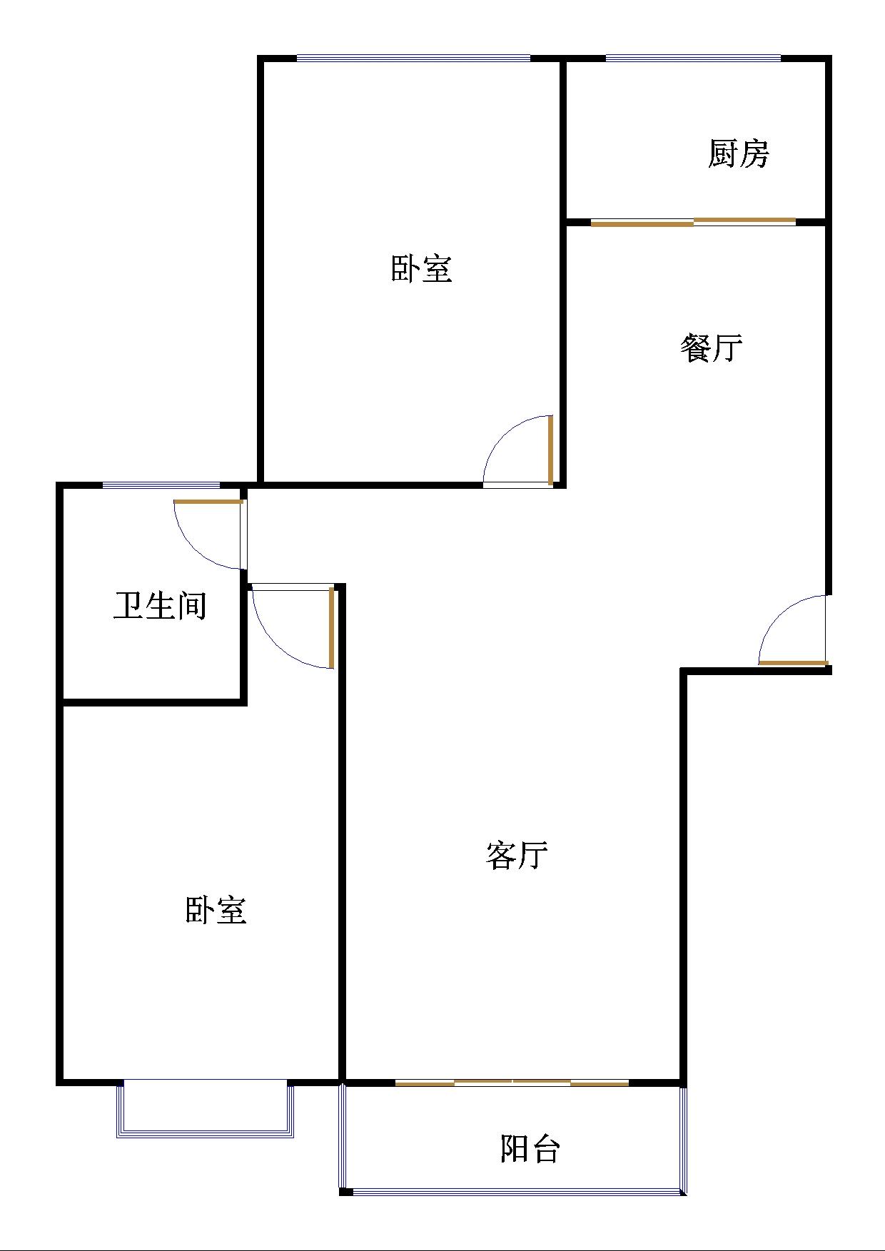 至尊名郡 2室2厅 8楼