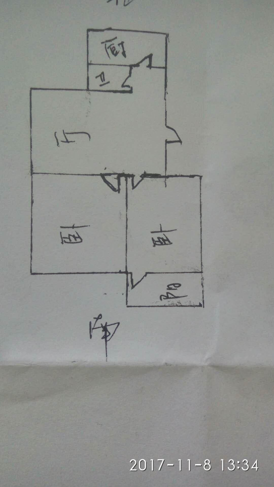 天华小区 2室2厅 1楼