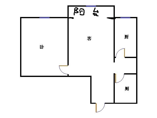 巴塞小镇 2室1厅 5楼
