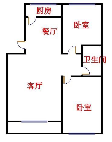 名苑小区 2室2厅 1楼