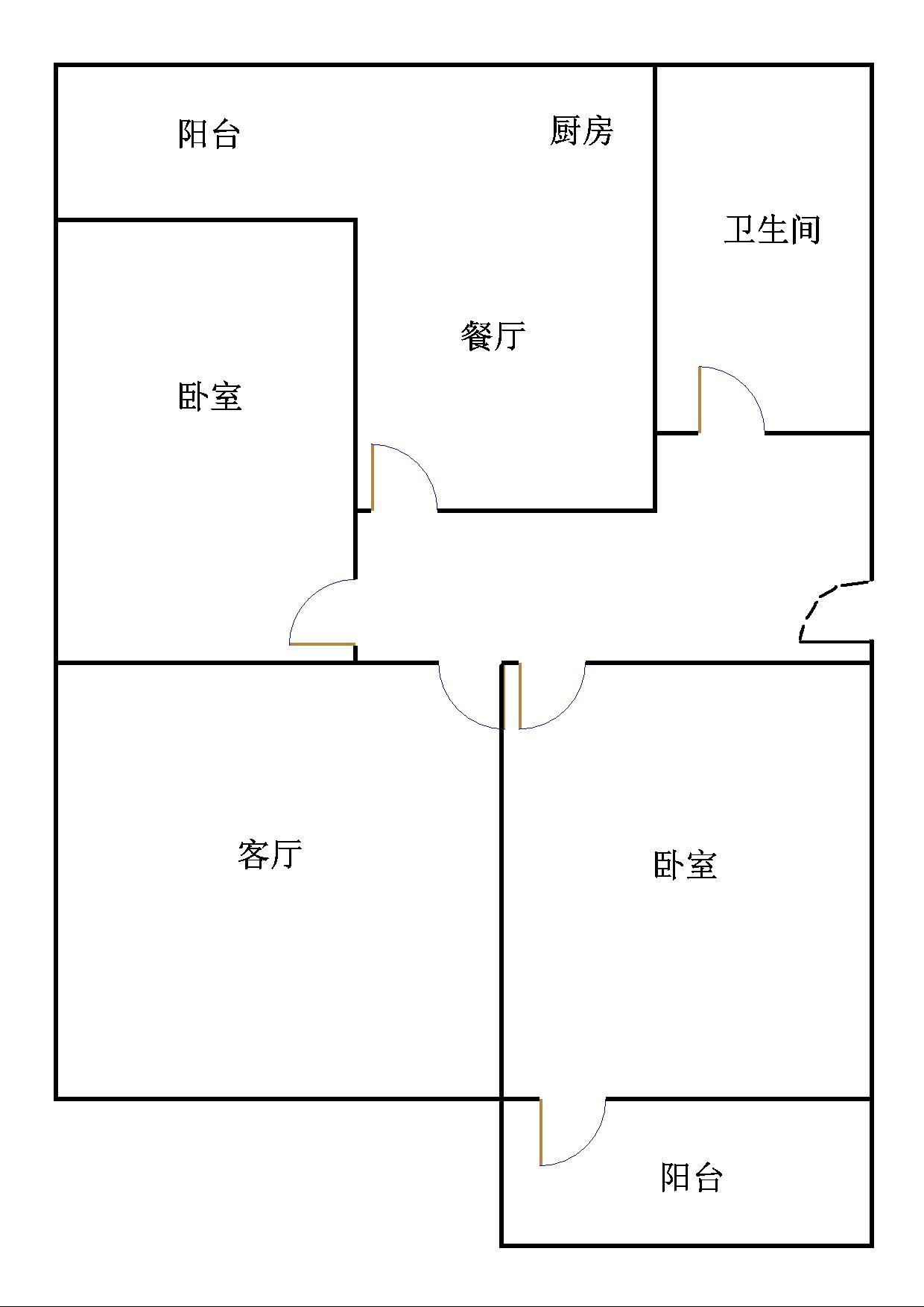 二棉宿舍 2室1厅  简装 83万