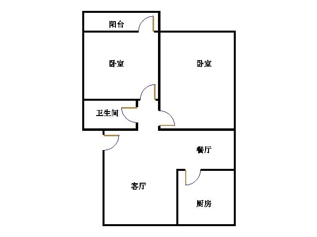 乾城尊府 2室2厅 2楼