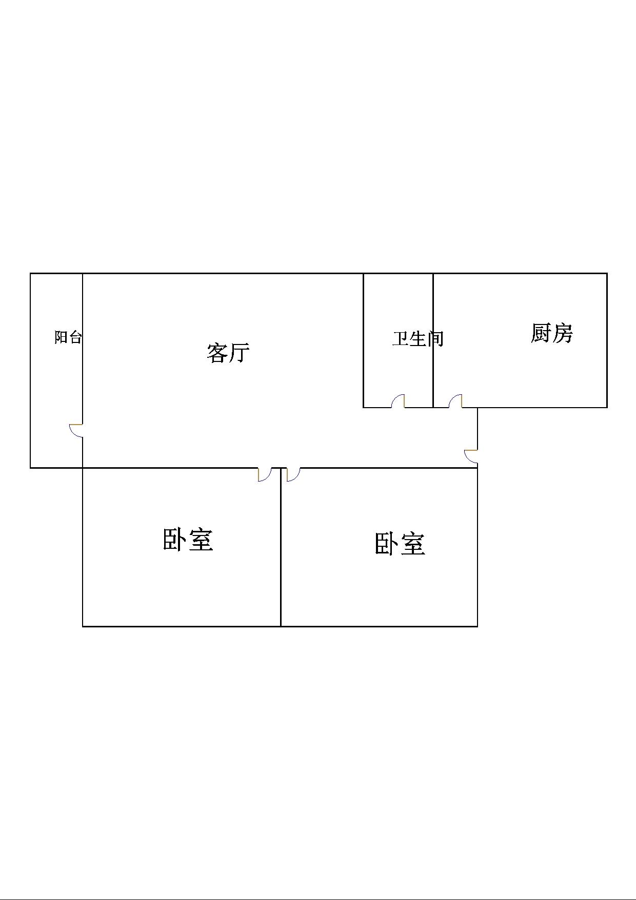 凯旋花园 2室2厅 12楼