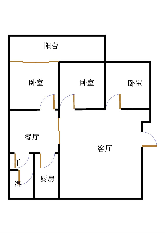 建兴小区北区 3室2厅  精装 130万