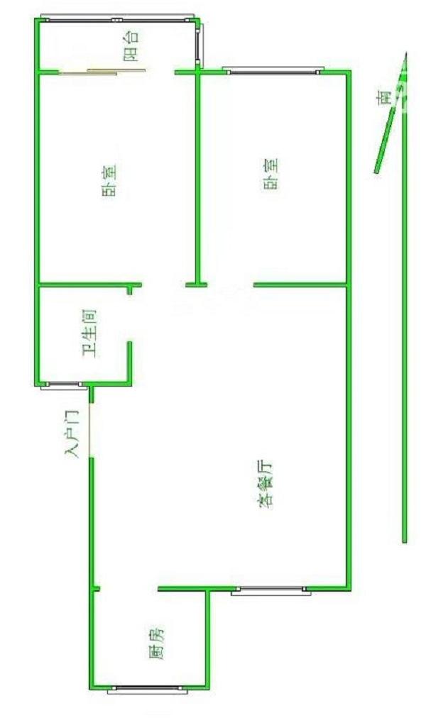 南源港湾 2室2厅 过五年 精装 72万
