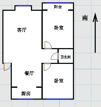 金光集团宿舍 2室2厅  简装 92万