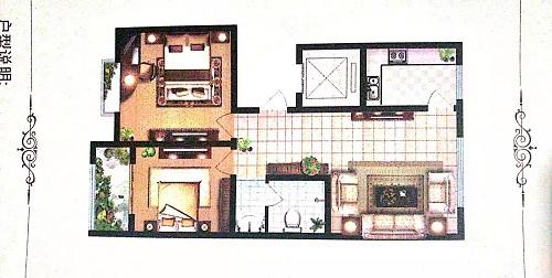 金腾豪庭 2室2厅 8楼