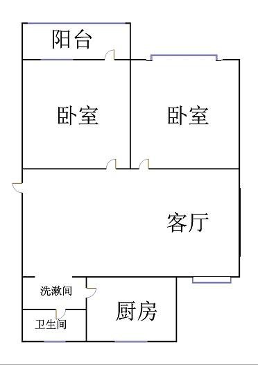 肖何庄小区 2室1厅  简装 67万