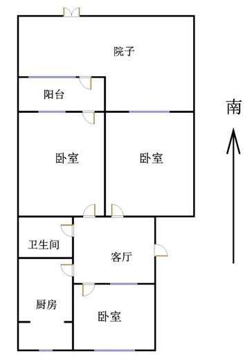 天衢小区 3室1厅 1楼
