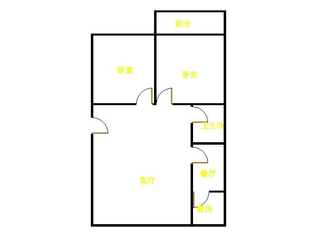 广川小区 2室1厅  简装 65万