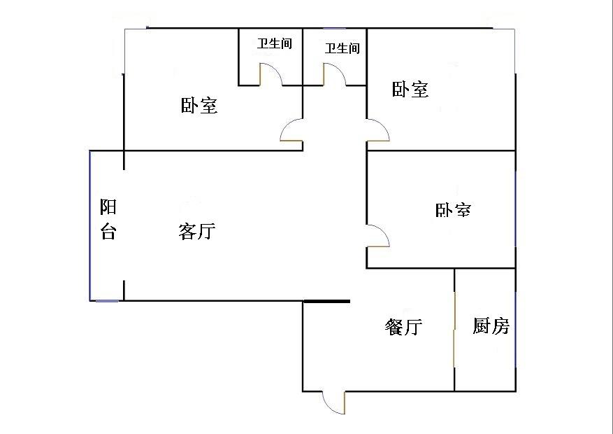 东方明珠小区 3室2厅 18楼