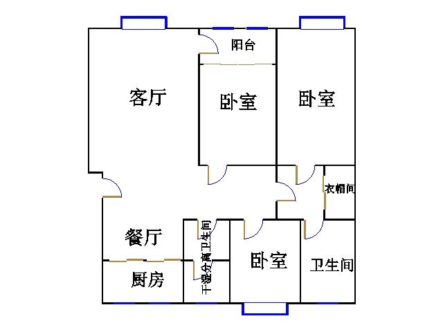 金紫荆花园 3室2厅 9楼