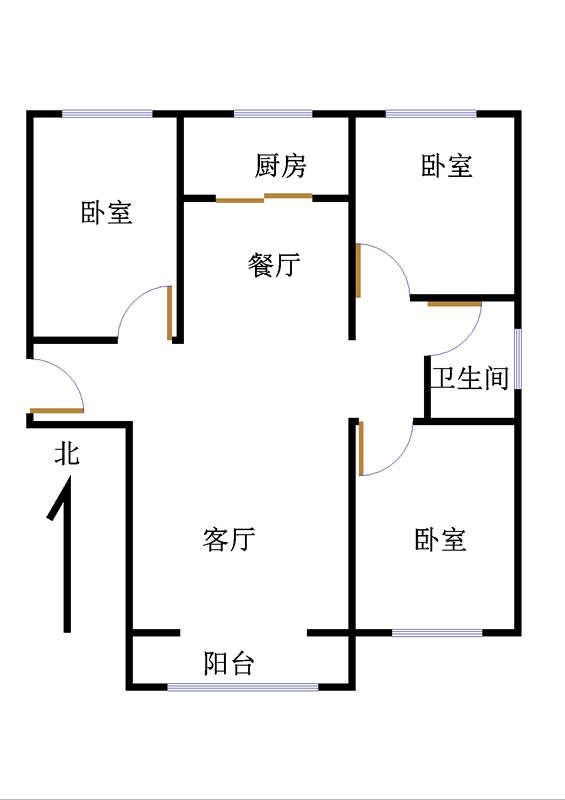 金鼎公馆 3室2厅 10楼