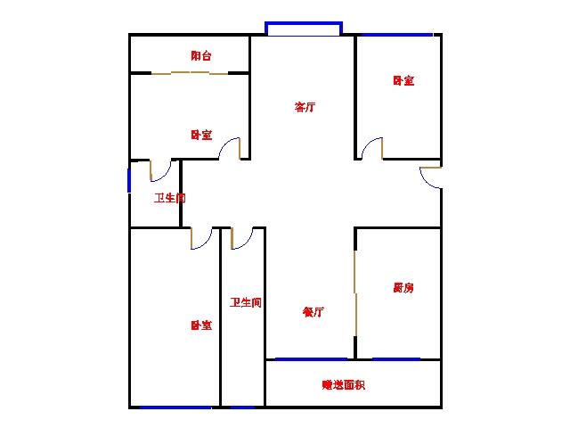 红星美凯龙国际广场 3室2厅 11楼
