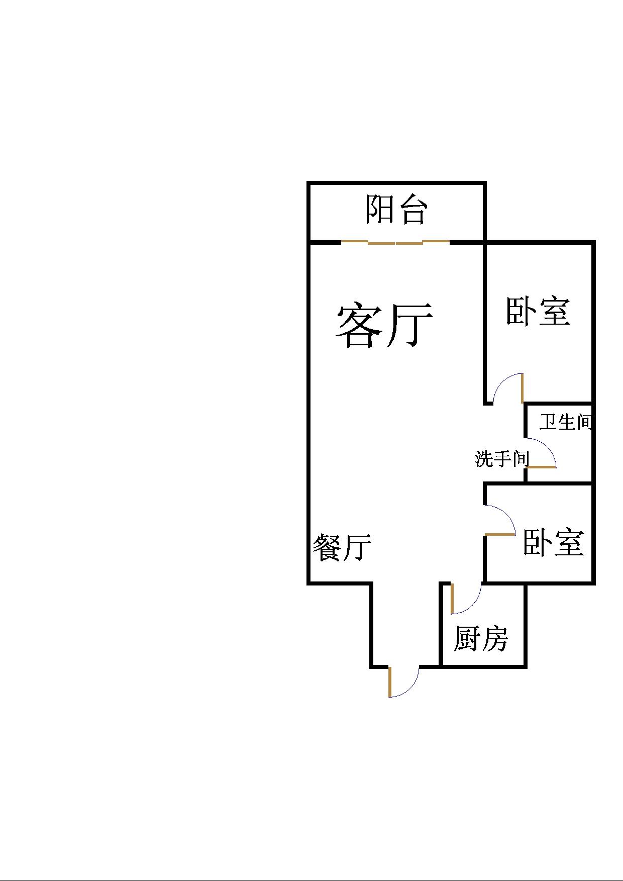 沙王社区 2室2厅 10楼