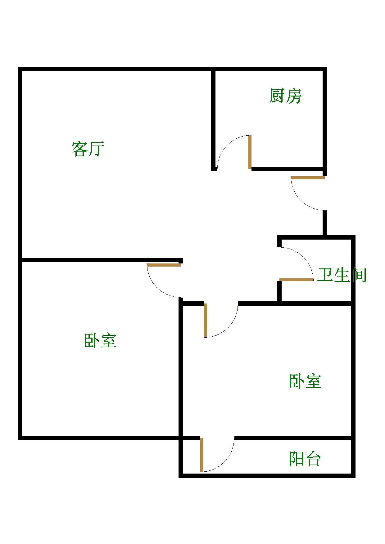 金卉小区 2室1厅  简装 35.6万