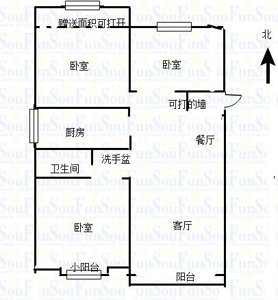 万达广场 3室2厅 27楼