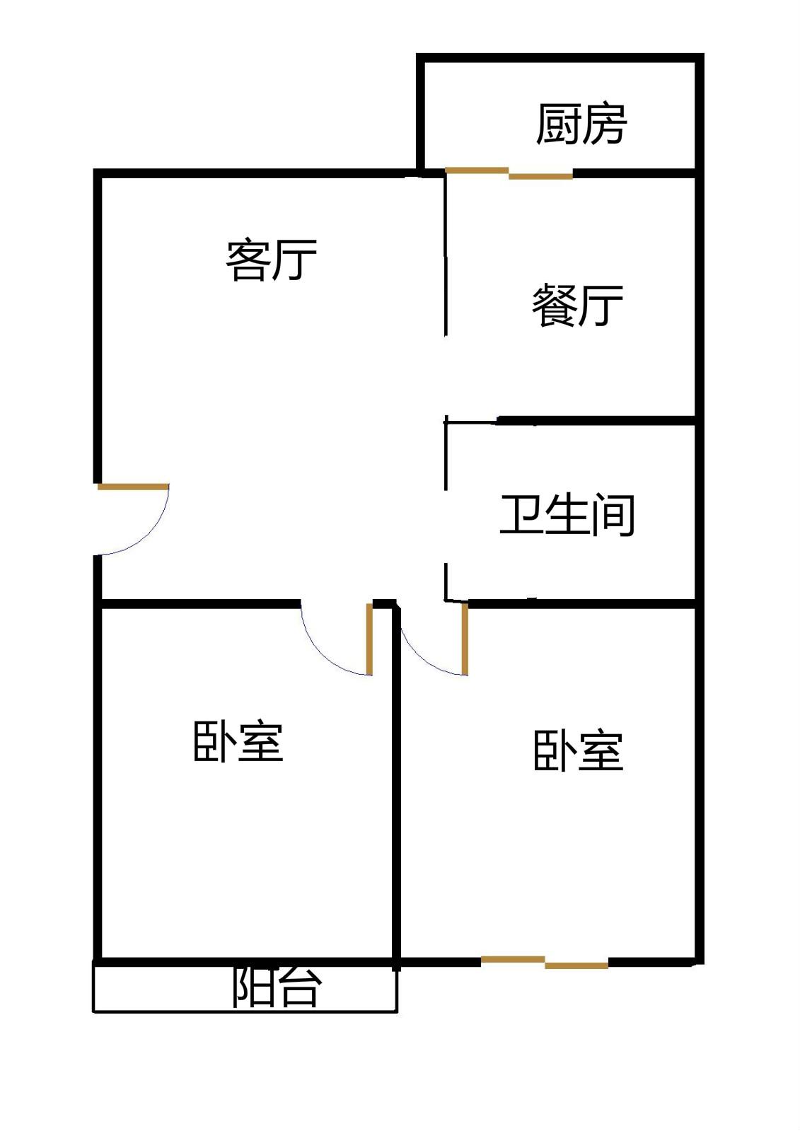 邮电小区(东风东路) 2室2厅 5楼