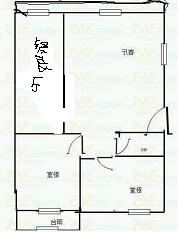 农科所宿舍 2室1厅 6楼