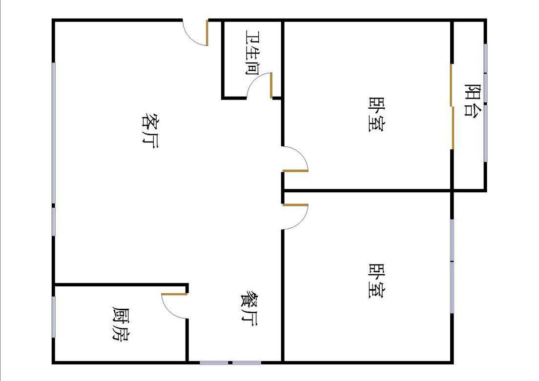 盛世华园 2室2厅 3楼
