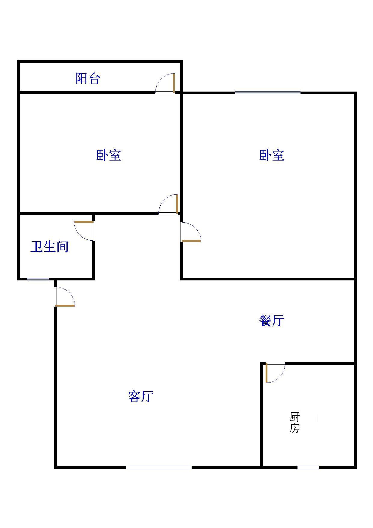 金卉小区 2室2厅 双证齐全过五年 精装 63万