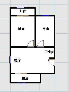 双环佳苑 2室2厅 5楼