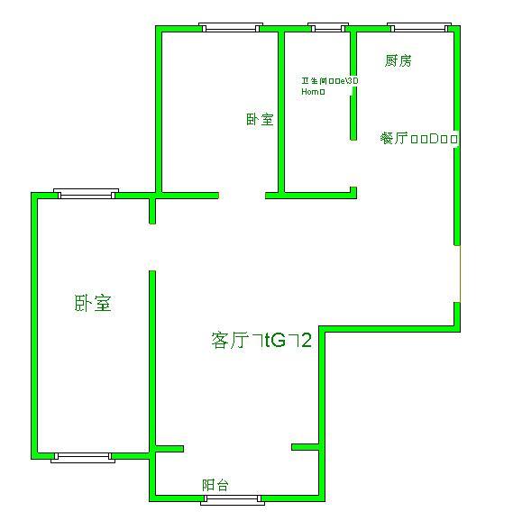 龙源世纪广场 2室2厅 9楼