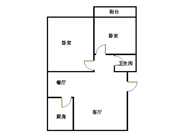 温馨家园 2室2厅 1楼