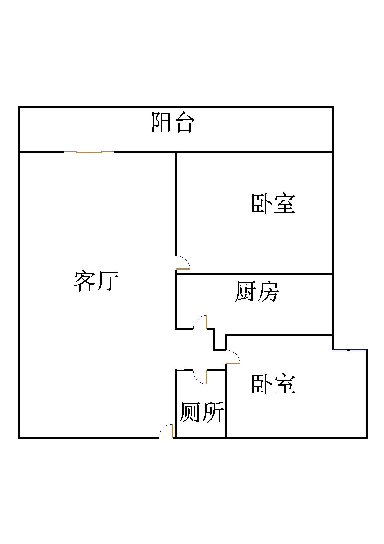 南苑花城 2室2厅  简装 89万