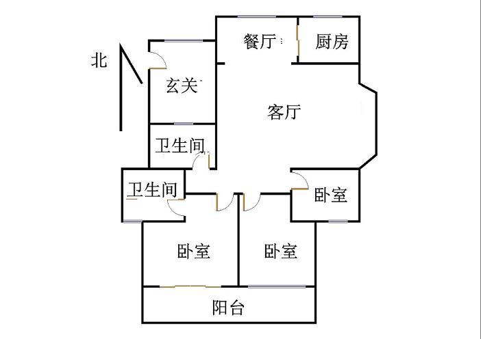 外海.江南水郡 3室2厅  毛坯 140万