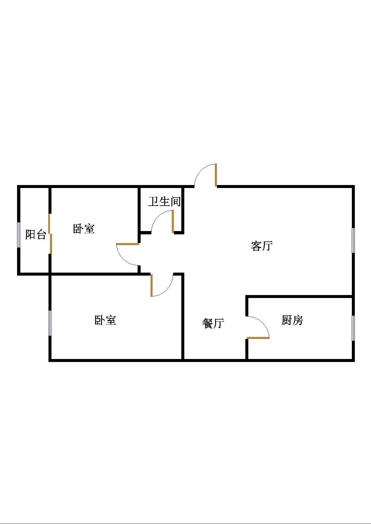 西长新村 2室2厅 5楼