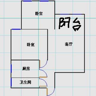 嘉诚尚东 2室2厅  简装 88万