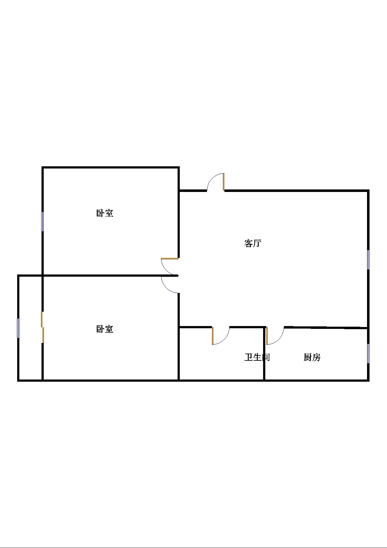 北园小区 2室2厅 双证齐全过五年 简装 55万