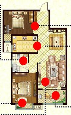 鲁班御景国际 2室2厅 双证齐全 精装 87万