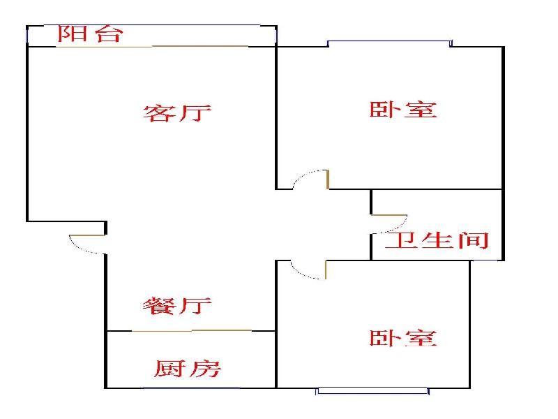 嘉诚尚东 2室2厅 2楼