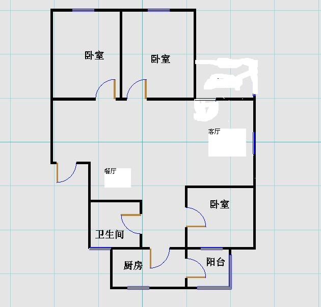 安然居宿舍 3室2厅  简装 107万