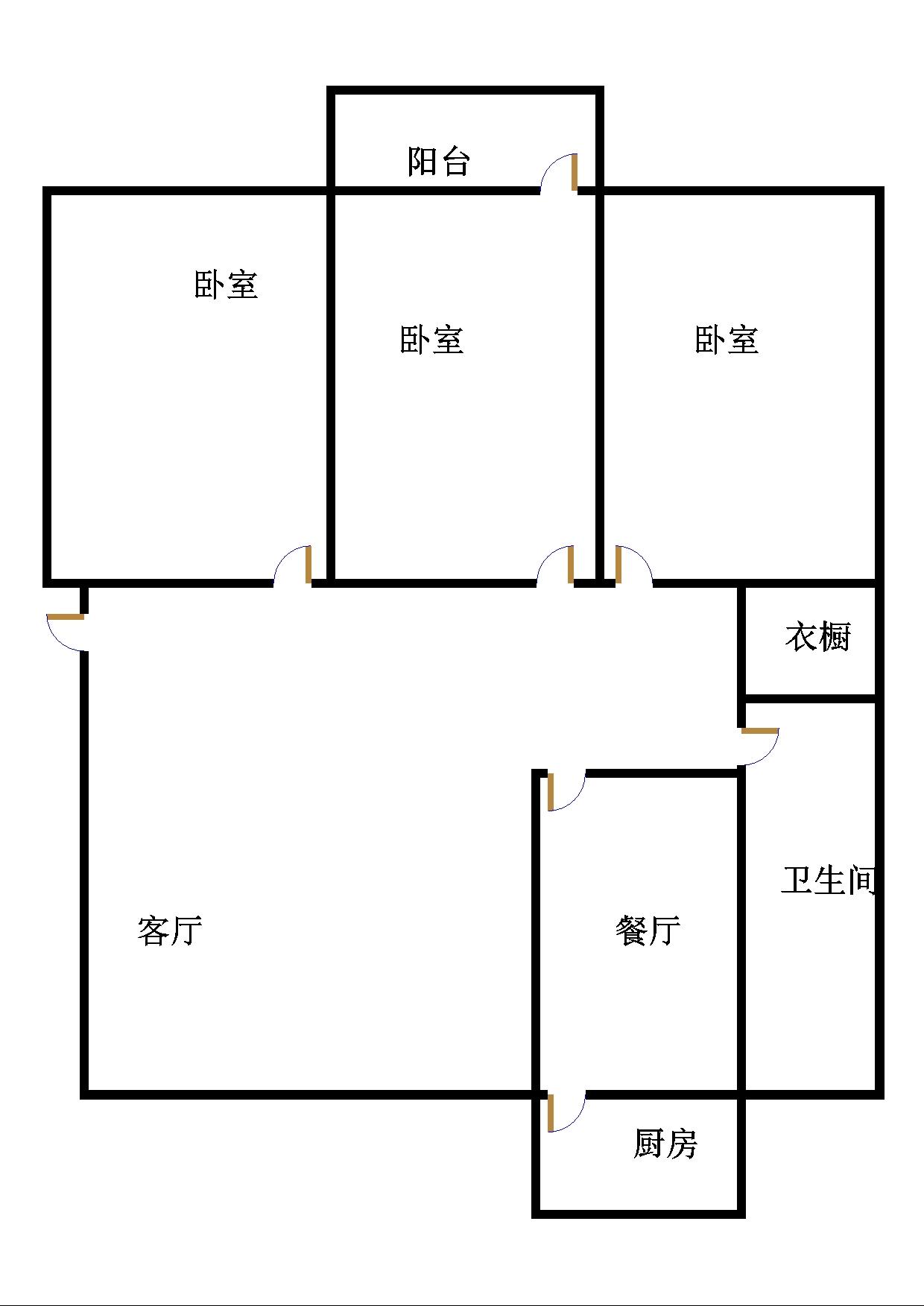 广川小区 3室2厅  简装 112万
