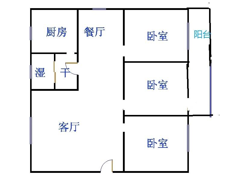 晶实景苑 3室2厅 双证齐全过五年 简装 135万